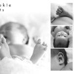 赤ちゃんのパーツ撮影
